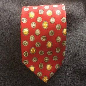 NWOT Metropolitan Museum of ART red SILK tie